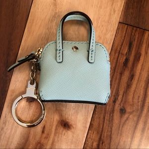 Kate Spade Mini Maise Bag Mint Keychain Fob NEW